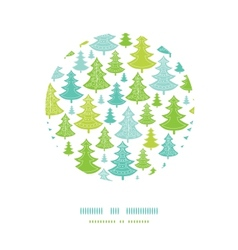 Holiday christmas trees circle decor pattern vector