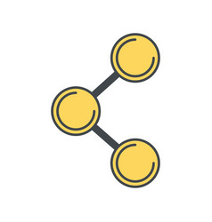 sharing social media symbol vector image