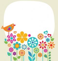 garden banner vector image