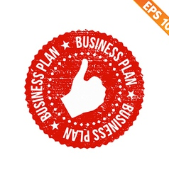 Rubber stamp business plan - - eps10 vector