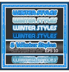 Set Of Winter Decorative Graphic Styles for Design vector image