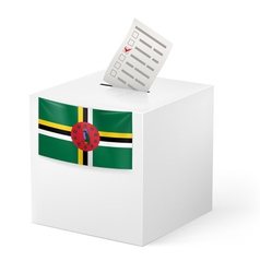 Ballot box with voting paper dominica vector