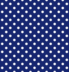 Blue background polka fabric with white dots vector