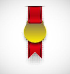 Badge with ribbon vector