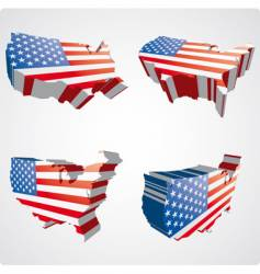 Usa 3d views vector