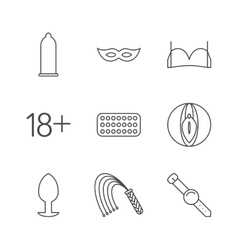 Sex shop icons vector