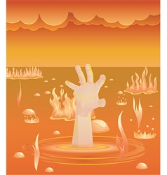 Hand in hell vector