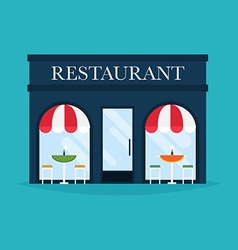 Restaurant building facade icons ideal vector