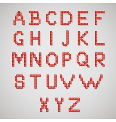 Pixel art alphabet vector