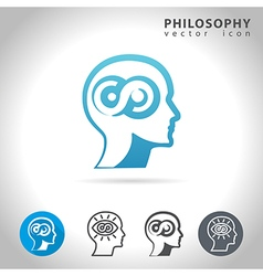 Philosophy icon set vector