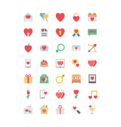 Valentine colored icons 1 vector