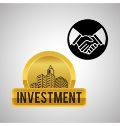financial item design business icon flat vector image