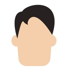 Man with straight hair vector