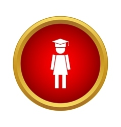 Female university student icon simple style vector