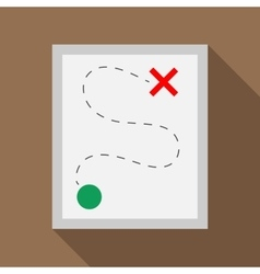 Route icon in flat style vector