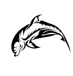 Abstract bottlenose dolphin vector