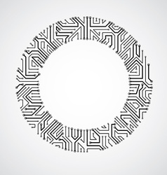 Abstract technology with round monochrome ci vector