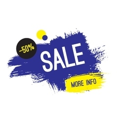 Advertising banner sale 50 percent off more vector