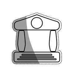bank building symbol vector image