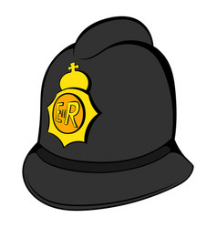 british police helmet icon cartoon vector image