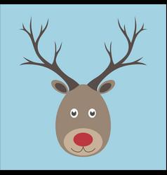 christmas reindeer portrait vector image vector image