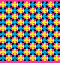 colorful geometric pattern in memphis style vector image vector image