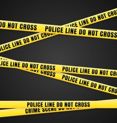 Criminal scene yellow line vector