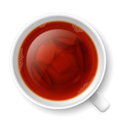 Cup of black tea vector image vector image