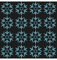 Cyan flower seamless pattern vector image