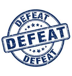 Defeat blue grunge stamp vector