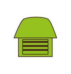 Emblem organic food home vector