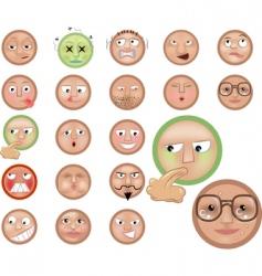 emoticons icon set vector image