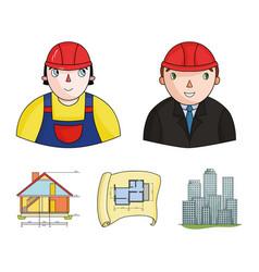 Engineer-constructor construction worker site vector