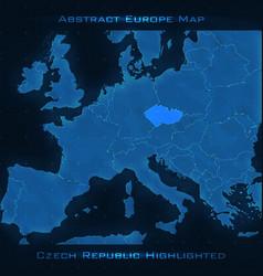 Europe abstract map czech republic vector