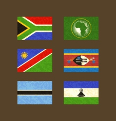 Flags of south africa african union namibia vector