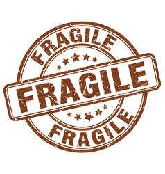 Fragile stamp vector
