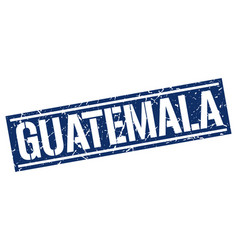 Guatemala blue square stamp vector