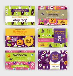 Halloween party template invitation modern flat vector