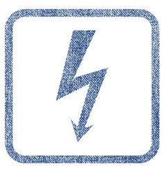 high voltage fabric textured icon vector image vector image