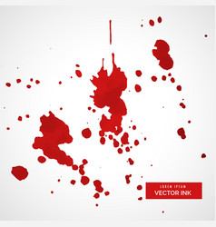 ink splatter stain collection vector image