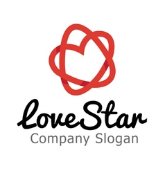 Love Star Design vector image