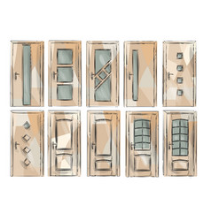 set of door3 vector image vector image