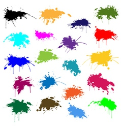 Set of ink in different colors vector