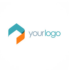 shape polygon business logo vector image vector image