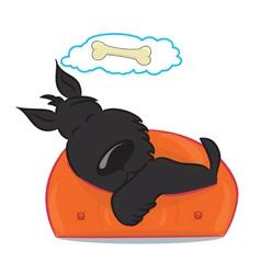Sleeping funny puppy vector image vector image