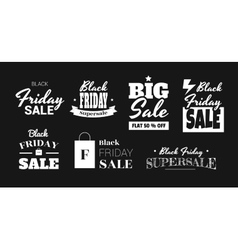 Stickers are on sale Black Friday vector image vector image