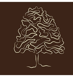 stylized tree silhouette vector image
