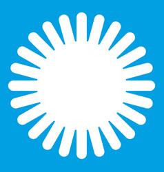 sun icon white vector image vector image