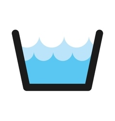 Water tank isolated icon vector