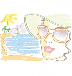 woman sunglasses vector image vector image